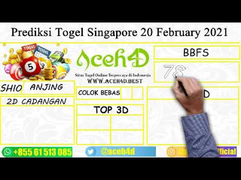 Prediksi Togel Singapore 20 February 2021