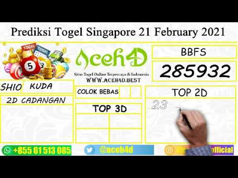 Prediksi Togel Singapore 21 February 2021