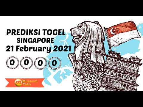 Prediksi Togel Singapore Minggu 21 Februari 2021