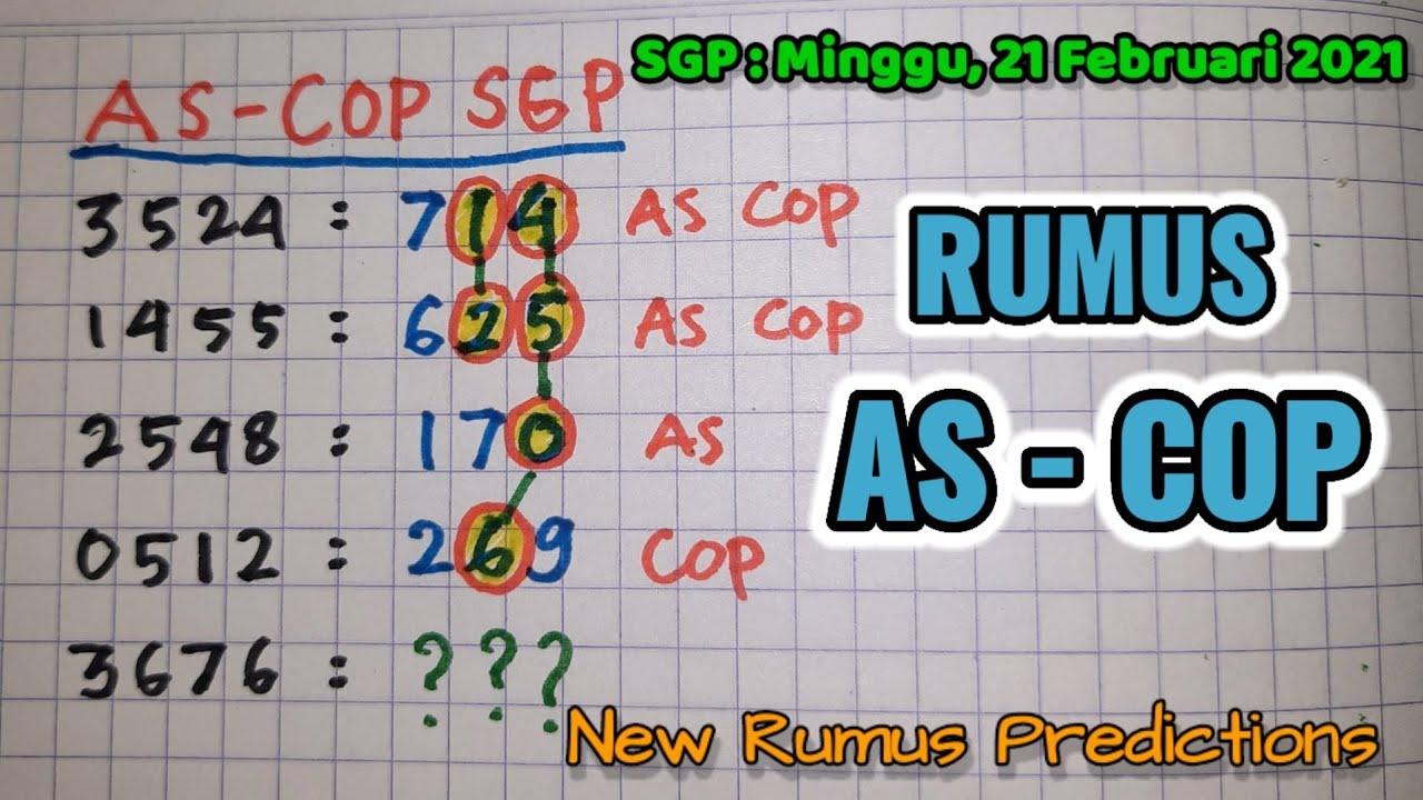Rumus As Kop SGP Minggu 21 Februari 2021